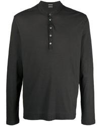Camiseta henley de manga larga negra de Massimo Alba
