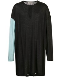 Camiseta henley de manga larga negra de Yohji Yamamoto