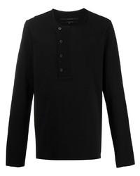 Camiseta henley de manga larga negra de Ziggy Chen
