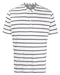 Camiseta henley de rayas horizontales en blanco y azul marino de Eleventy