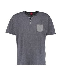 Camiseta henley de rayas horizontales en gris oscuro de s.Oliver