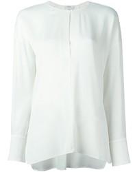 Camiseta Henley de Seda Blanca de Vince