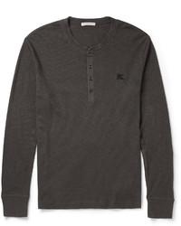 Camiseta henley en gris oscuro de Burberry