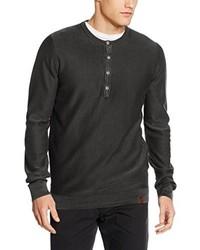 Camiseta henley en gris oscuro de camel active