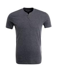 Camiseta henley en gris oscuro de Celio