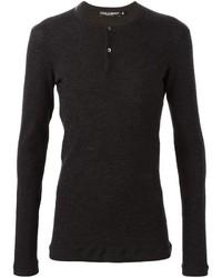 Camiseta henley en gris oscuro de Dolce & Gabbana