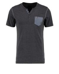 Camiseta henley en gris oscuro de Produkt