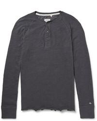 Camiseta henley en gris oscuro de Rag and Bone