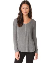 Camiseta henley en gris oscuro de Splendid