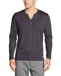 Camiseta henley en gris oscuro de Tom Tailor