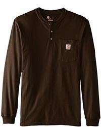 Camiseta henley en marron oscuro original 2604309