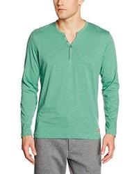 Camiseta henley en verde menta de Tom Tailor
