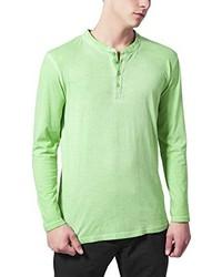Camiseta henley en verde menta de Urban Classics