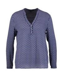 Camiseta henley estampada azul de Esprit