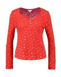 Camiseta henley estampada roja de SPRINGFIELD