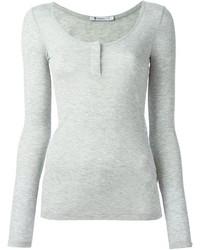 Camiseta henley gris de Alexander Wang