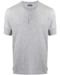 Camiseta henley gris de Tom Ford