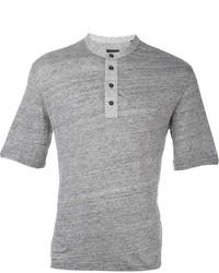 Camiseta henley gris de Z Zegna
