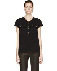 Camiseta henley negra de Balmain
