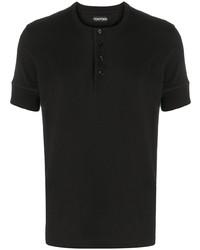 Camiseta henley negra de Tom Ford