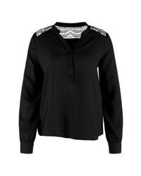 Camiseta henley negra de Vero Moda