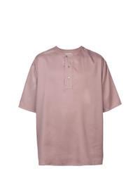Camiseta henley rosada