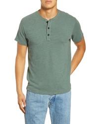 Camiseta henley verde oscuro