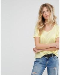 Camiseta Mostaza de Mango