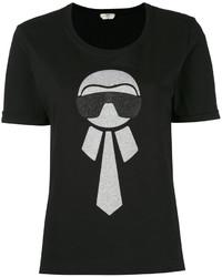 Camiseta Negra de Fendi