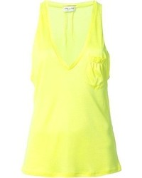 Camiseta sin manga amarilla de Saint Laurent