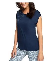 Camiseta sin manga azul marino de ESPRIT Collection