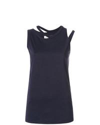 Camiseta sin manga azul marino de Maison Margiela
