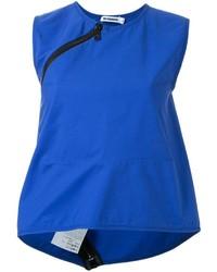 Camiseta sin manga azul de Jil Sander