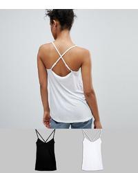 Camiseta sin manga blanca de ASOS DESIGN