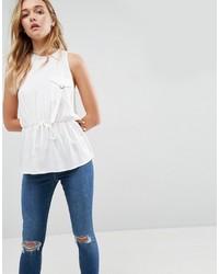 Camiseta sin manga blanca de Asos