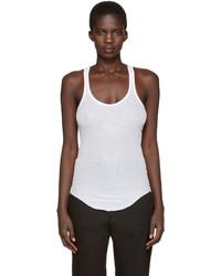 Camiseta sin manga blanca de Etoile Isabel Marant