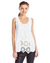 Camiseta sin manga con ojete blanca