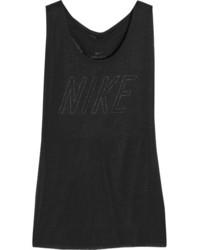 Camiseta sin manga con recorte negra de Nike