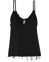 Camiseta sin manga con relieve negra de Raquel Allegra