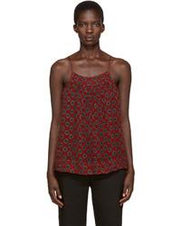 Camiseta sin manga de gasa burdeos de Etoile Isabel Marant