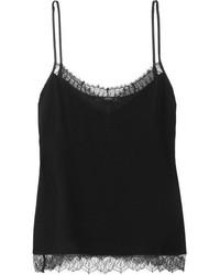 Camiseta sin manga de gasa negra de Etro