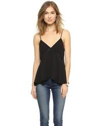 Camiseta sin manga de gasa negra de Rebecca Minkoff