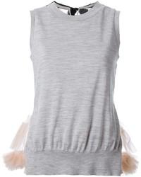 Camiseta sin manga de lana gris de Muveil