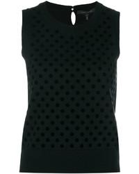 Camiseta sin manga de lana negra de Marc Jacobs