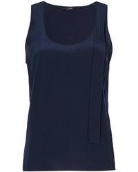 Camiseta sin manga de seda azul marino de Joseph
