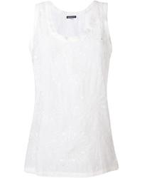 Camiseta sin manga de seda blanca de Ann Demeulemeester