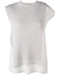 Camiseta sin manga de seda gris de 3.1 Phillip Lim