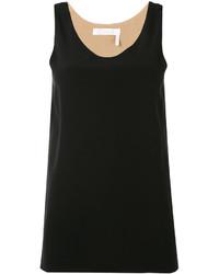 Camiseta sin manga de seda negra de Chloé