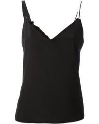 Camiseta sin manga de seda negra de Ungaro