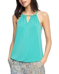 Camiseta sin manga en verde menta de ESPRIT Collection